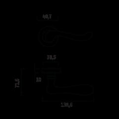 Дверная ручка GENESIS ACANTO ANT. COFFEE (20G), цвет - античный кофе