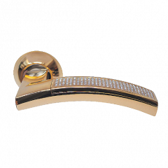Дверная ручка SILLUR 132 P.GOLD/CRYSTAL., цвет золото/кристаллы