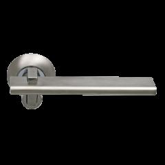 Дверная ручка SILLUR 133 S.CHROME/P.CHROME, цвет хром матовый/хром