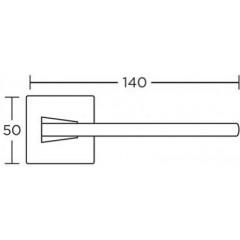 Дверная ручка на розетке Convex 1105-r матовый антик S73