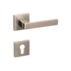 Дверная ручка на розетке CROMA ETA-S SN (матовый никель) комплект ET