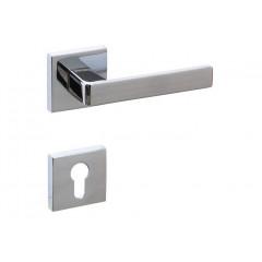 Дверная ручка на розетке CROMA ETA-S CP (хром) комплект ET