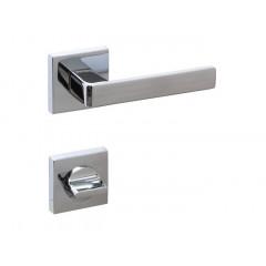 Дверная ручка на розетке CROMA ETA-S CP (хром) комплект WC