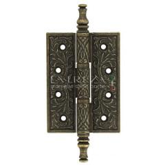 Дверная петля Extreza 6110 универсальная латунная 102x76x4 античная бронза F23 (1шт.)