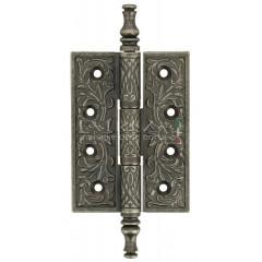 Дверная петля Extreza 6110 универсальная латунная 102x76x4 античное серебро F45 (1шт.)