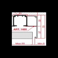 TRACK-D 1480/300 Декоративный профиль 3м.
