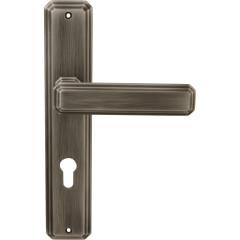 Дверная ручка на планке Forme 217/P35 RAT Cyl Temis Затемненное серебро