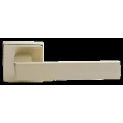 Дверная ручка на розетке Morelli, HORIZONT S4 NIS, цвет - матовый никель