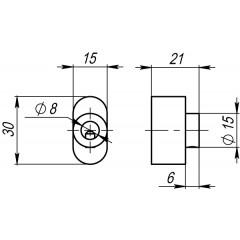 Вертушка на цилиндр CB-S-SN-3 матовый никель