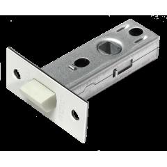 LP6-45 W, защелка межкомнатная, с пластиковым язычком, цвет - белый