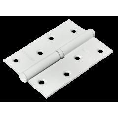 MSD 100X70X2.5 W L, петля стальная левая, цвет - белый