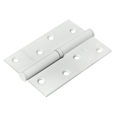 MSD 100X70X2.5 W R, петля стальная правая, цвет - белый