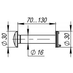 DVZ4, глазок, 16/200/70x130 (оптика пластик, угол обзора 200) AB Бронза