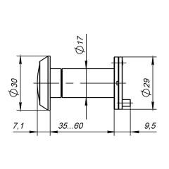 DVP1/NEW, 16/140/35x60 (оптика пластик) CP Хром