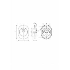 Броненакладка DEF 4825 eco CP ХРОМ