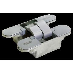 Дверная петля скрытой установки с 3-D регулировкой Morelli HH-18 SC, цвет - матовый хром