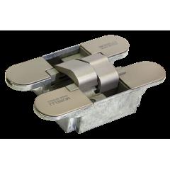 Дверная петля скрытой установки с 3-D регулировкой Morelli HH-3 SN, цвет - матовый никель