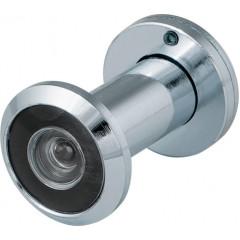 DVS1, глазок, 16/180/35x60 (оптика пластик, шторка сталь, угол обзора 180) CP Хром