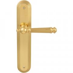 Дверная ручка на планке Melodia 102 Pass/P 235 Veronica латунь полированная
