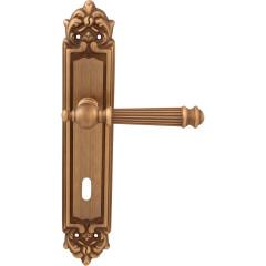 Дверная ручка на планке Melodia 102/229 Cab Veronica Матовая бронза
