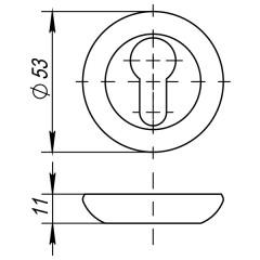 Накладка под цилиндр ET JR SN/CP-3 матовый никель/хром