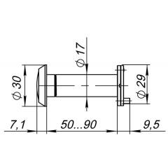 DVP3/NEW, 16/140/50x90 (оптика пластик, угол обзора 140) CP Хром