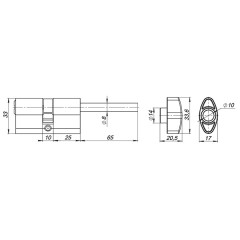 Вертушка под цилиндр CB-Z-SN мат.никель