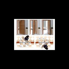 SWING Комплект для двери ширина двери от 565 до 915 мм. высота двери - от 1700 до 2484 мм