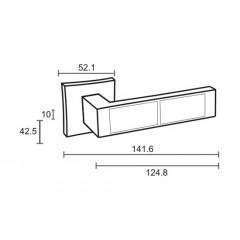 """Дверная ручка на розетке ORO&ORO """"923-13"""", никель матовый"""