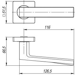 Дверная ручка на розетке Ajax (Аякс) ERGO JK CP-8 хром
