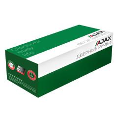 Дверная ручка на розетке Ajax (Аякс) ERGO JK SN/CP-3 матовый никель/хром