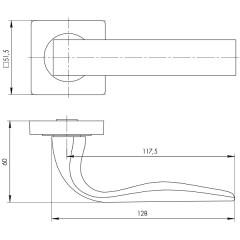 Дверная ручка на розетке Ajax (Аякс) EVO JK CP-8 хром