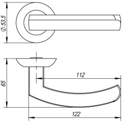 Дверная ручка на розетке Punto (Пунто) ALFA TL ABG-6 зеленая бронза