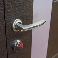 Дверная ручка на розетке Punto (Пунто) ALFA TL SN/CP-3 матовый никель/хром