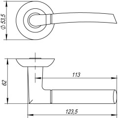 Дверная ручка на розетке Punto (Пунто) ARDEA TL ABG-6 зеленая бронза
