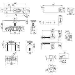 Базовый комплект Armadillo (Армадилло) для синхронного открывания дверей Comfort - PRO SET 4 /synchron/ 80 (CFA171A)