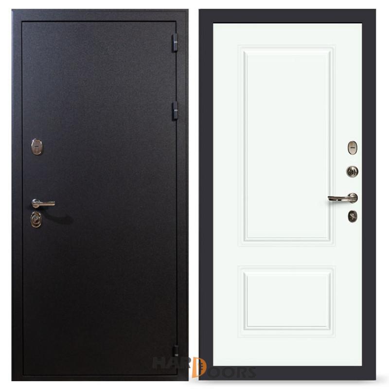 Входные двери Лекс 2 Рим Вероника-1 Шпон Эмаль Белая (панель №55)