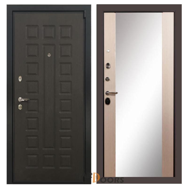 Входные двери Лекс 4А Неаполь Mottura Стиль с Зеркалом Дуб беленый (панель №45)