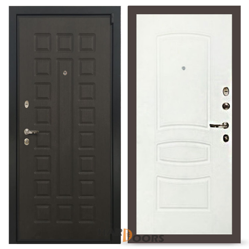Входные двери Лекс 4А Неаполь Mottura Белая шагрень (панель №68)