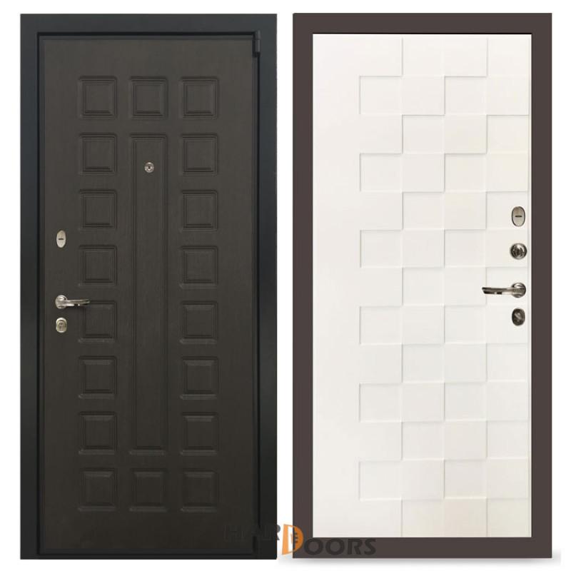 Входные двери Лекс 4А Неаполь Mottura Белая шагрень Квадро (панель №71)