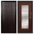 Входные двери Лекс Гладиатор 3К с Зеркалом Береза мореная (панель №30)