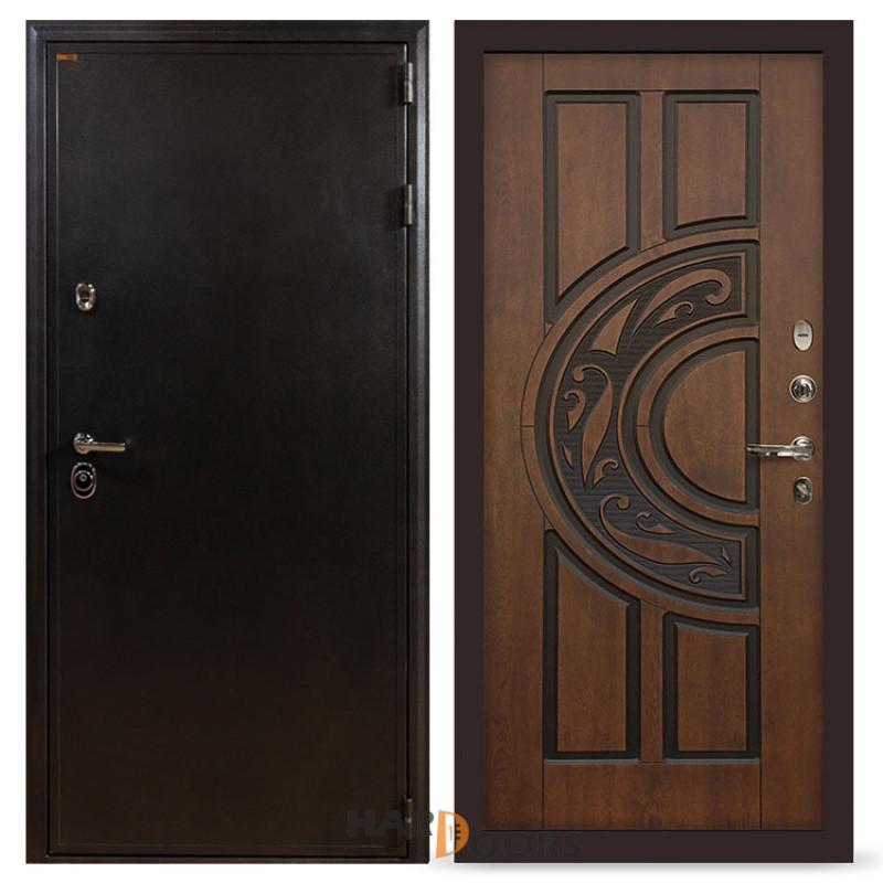Входные двери Лекс Колизей Винорит Голден патина черная (панель №27)