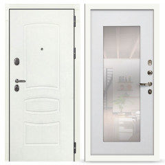 Лекс Легион 3К с зеркалом Шагрень белая / Ясень белый (панель №37)