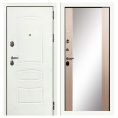 Лекс Легион 3К с зеркалом Шагрень белая / Дуб беленый (панель №45)