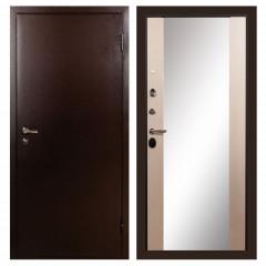 Лекс 1А с зеркалом Дуб беленый (панель №45)