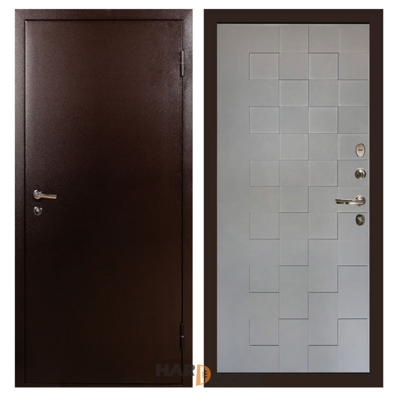 Входные двери Лекс 1А Графит софт Квадро (панель №72)