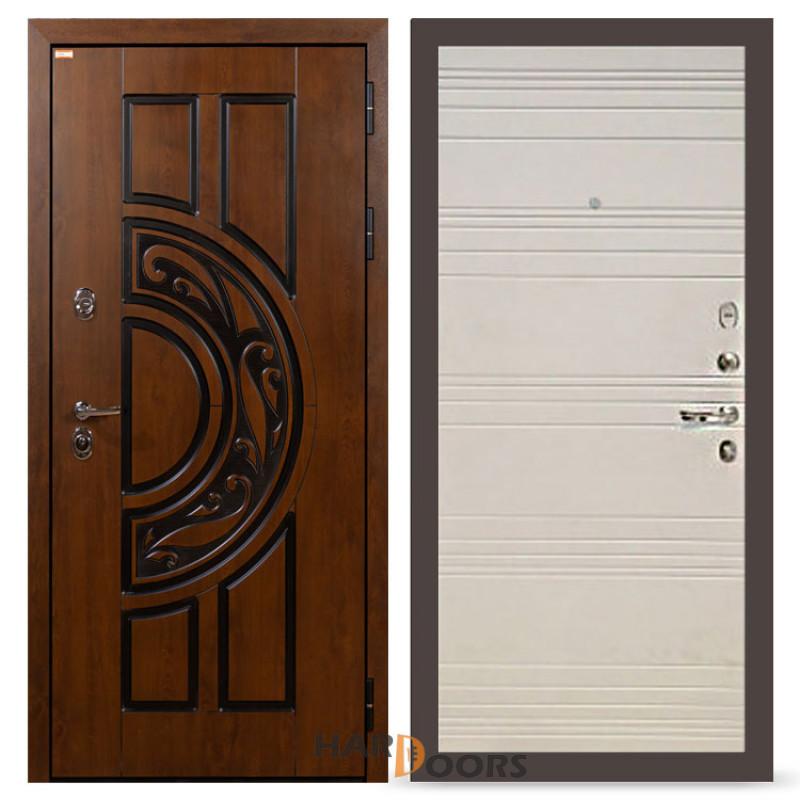 Входные двери Лекс Спартак Cisa Дуб фактурный кремовый (панель №63)
