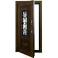 Входные двери  ЛЕКС  Лекс Термо Русь с окном и ковкой (Голден патина) Фото 3