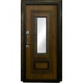 Входные двери  ЛЕКС  Лекс Термо Русь с окном и ковкой (Голден патина) Фото 5