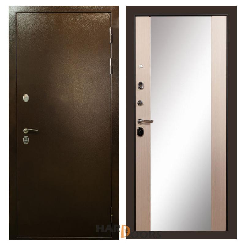 Лекс Термо Сибирь 3К с зеркалом Дуб беленый (панель №45)